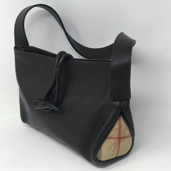 f89713b0b966 Burberry Handbags - BURBERRY Leather Horn Toggle Small Shoulder Bag